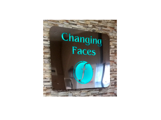 Stainless Steel Signage with built in light